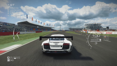 Grid Autosport Nintendo Switch behind car